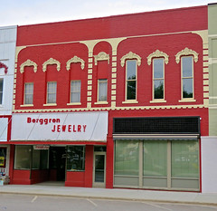 Berggren Jewelry, Red Oak, IA (Robby Virus) Tags: redoak iowa ia berggren jewelry jewels store business sign signage storefront building commercial block downtown