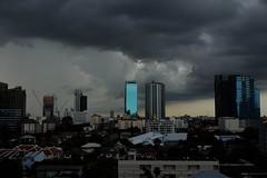 Skyline (jcbkk1956) Tags: bangkok thailand skyline buildings clouds dusk storm fuji xt1 xf27mmf28 thonglo cityscape worldtrekker