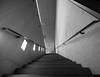Staircase in concrete with stainless steel handrail (rainerralph) Tags: architcture architektur staircase schwarzweiss sw bayern treppe nuernberg germany omdem1markii sichtbeton bavaria deutschland concrete blackandwhite objektiv714pro stair