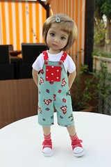 Nikola models for me today.... (dambuster01) Tags: littledarling nellyvalentino sewingbysharoninspain overalls vinyl diannaeffner handpainted doll