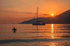 Summer sunset (Vagelis Pikoulas) Tags: summer sunset sun boat yacht girl sea seascape canon 6d tokina 1628mm view landscape 2470mm porto germeno greece june 2017 golden