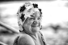 Just For Giggles (rosiebondi) Tags: street australia sydney blackandwhite summer swimmer