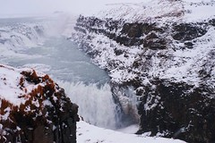 Snow in (jinsei888) Tags: iceland blizzard cold snow white fujifilm 35mm mitsubishi suv man hoodie waterfall blue snowstorm storm travel landscape