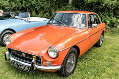 MGB GT (John Tif) Tags: classiccarshow eppingongarrailway mgbgt car