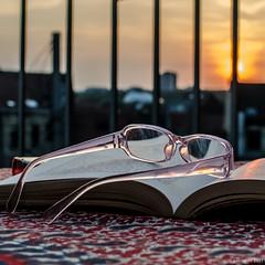 170/365 - lecture du soir (Patrice Dx) Tags: lunettes livre lecture crépuscule naturemorte nikonpassion365 projet365
