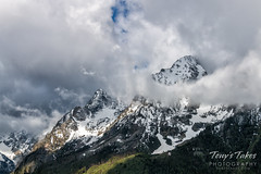 Dramatic clouds over the Tetons