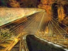 Puente de Calatrava - Bilbao (Antonio-González) Tags: bridgeofcalatrava bilbao bridge calatrava puente pasarela angovi