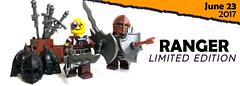 June 2017 - Ranger Minifigure (BrickWarriors - Ryan) Tags: lego brickwarriors minifigure ranger fantasy medieval dungeons dragons castle flamberge demon shield custom printed limited edition