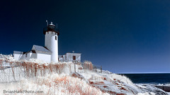 Eastern Point Lighthouse (Brian M Hale) Tags: ir infrared infra red 720nm lighthouse glucester eastern point ma mass massachusetts newengland new england usa atlantic ocean seaside sea coast coastal nature outside outdoors brian hale brianhalephoto sky light house