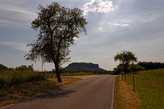 LIliensteinstraße und Lilienstein (Veit Schagow) Tags: runderwanderung rathen prossen waltersdorf liliensteinstrase street saxonyswiss elbsandsteingebirge