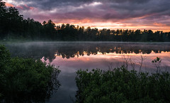 Mew Lake (Explore) (rmikulec) Tags: sunset lake forest mew algonquin park camping hike nature wild wilderness summer rain thunder storm clouds red reflection trees branch