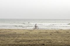 Long Beach bike ride (Eva Orleans) Tags: longbeachbc pacificocean vancouverisland tofino bike beach ocean sandybeach britishcolumbia cyclist serenity peace water bicycle sand