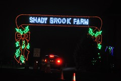 02 Shady Brook Farm Sign (megatti) Tags: buckscounty christmas christmaslights pa pennsylvania shadybrookfarm sign yardley