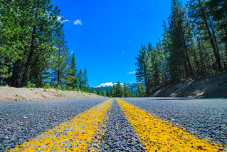 Road in Lassen Volcanic National Park