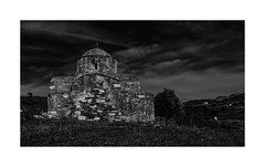 IMA_6713SEb Byzantine Church (foxxyg2) Tags: churches chapels monasteries religion orthodox greekorthodox architecture mono monochrome bw blackwhite niksoftware silverefex night greece greekislands islandhopping islandlife naxos cyclades