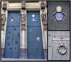 kaum beachtet- barely noticed (Anke knipst) Tags: tür door köln cologne ewaldmataré bronzetür collage dom cathedral papst kardinal