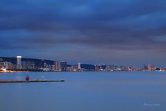 釣魚趣 (Lavender0302) Tags: 紅樹林 油車口 沙崙 淡水 新北市 台灣 taiwan bluehour building