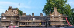 Friday Hill House July 2017 (M C Smith) Tags: pentax k3 fridayhillhouse building construction development sky blue scaffolding fence aerials chimneys roof windows green trees red