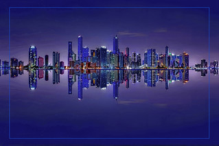 The skyline of Miami, Florida, USA  / The Magic City