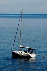 Relax (dona(bluesea)) Tags: water sea blu blue boat relax capogallo palermo sicilia sicily