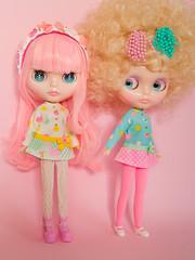 Mod Dress Spam! (Helena / Funny Bunny) Tags: funnybunny solidbackground lollipop phoebemaybe custom reroot rbl blythe jewelsymphony sprightbeauty