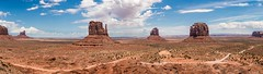 Monument Valley Panorama (Ron Drew) Tags: nikon d800 arizona utah navajo monumentvalley monumentvalleytribalpark viewhotel summer clouds panorama stitch buttes desert usa americanwest nativeamerican mittens outside dine vast