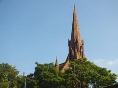 DSCF0683 All Saints Church Tower, Runcorn (Anand Leo) Tags: silverjubileebridge rivermersey allsaintschurch runcorn