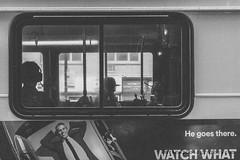 Shadows on the bus (Tom Kavana) Tags: blackandwhite bwnyc bw nyc newyorkcity bus grain matte social society