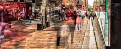 Ghosts-5 (ianmiddleton1) Tags: glasgow buchananstreet longexposure multipleexposure ghosts blur