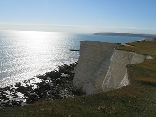 UK - East Sussex - Near Seaford - White cliffs of Seaford Head
