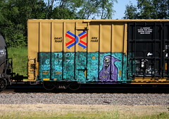 Natas (quiet-silence) Tags: graffiti graff freight fr8 train railroad railcar art natas ttx tbox boxcar tbox667741