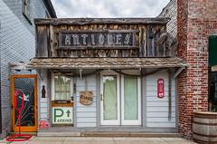 Antiques (pattyg24) Tags: antiques mercer wisconsin barrel door rope rustic shingles shop signs