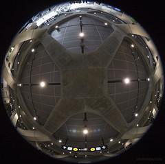20170624. Placing the TTC's new York University Station ceiling inside a sphere. (Vik Pahwa Photography) Tags: ttc yorkuniversity station new doorsopen2017 tysse fisheye torontoyorkspadinasubwayextension yorku torontotransitcommission architecture wideangle