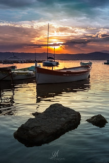Sunset, City of Antibes, France