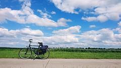 Bike and the clouds 🚲 (Jos Mecklenfeld) Tags: bike bicycle wolken terapel westerwolde netherlands clouds groningen fahrrad xperia landscape niederlande sonyxperiaz5 landschaft landschap fiets