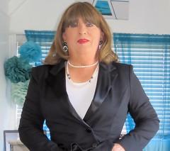 Portrait (Trixy Deans) Tags: crossdresser cd cute crossdressing leather trousers tightjeans jacket jeans xdresser sexy sexytransvestite sexyheels sexylegs tgirl tv transvestite tranny shemale shemales
