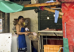 Street Meat (Beegee49) Tags: street meat butcher stall chopping bacolod city philippines