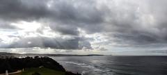 Coastline (LSydney) Tags: coast ocean clouds longreef rays panorama