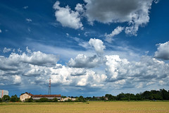 Grugnotorto park, landscape in the springtime (clodio61) Tags: brianza europe grugnotorto italy lombardy may milan monza building cloud cloudscape color country day farm field green land landscape nature outdoor park path photography red scenic sky springtime