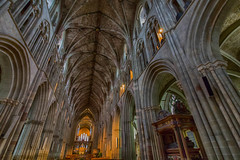 """Worcester Cathedral. (Ian Emerson """"I'm Back"""") Tags: cathedral worcester architecture indoor arches stone marble aisle artwork heritage england uk beauty"""