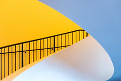 To each a dream (Maerten Prins) Tags: germany duitsland deutschland hamburg stair stairs stairwell curl curve soft white orange railing black metal contrast elbphilharmonie elphi concerthall hafencity new architecture abstract line lines explored
