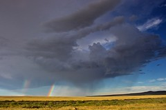 New Mexico Rainbow (SkylerBrown) Tags: clouds field landscape nature newmexico plains rainbow sky storm travel