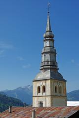Hauteluce (Savoie) : clocher à bulbe (bernarddelefosse) Tags: hauteluce savoie rhônealpes clocheràbulbe église saintjacquesdassyrie