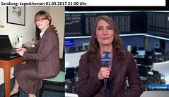 Anja Kohl and Marie-Christine (Marie-Christine.TV) Tags: feminine lady mariechristine anjakohl news skirtsuit kostüm tv television business woman femme female enfemme beauty elegant lipstick