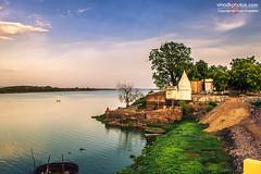 Ambhora River (Vinod Khapekar) Tags: india landscape river evening sky hdr nagpur water temple green tree canon5dmarkii canon