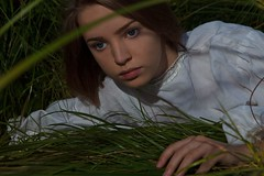 Virelai of springs {2} (dewframe) Tags: виреле трава girl youngteen emotive green plant nature teen feelings artisticsoul poetry charming eyes