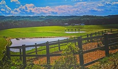 ~ Here's To The Farmer ....... (~ Cindy~) Tags: tennessee county claiborne 2017 time spring fence farm hff clouds skies ponds mountains home farming