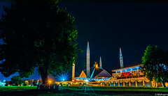 Night lights and the architecture of Mosque decorated with colorful lights (Mohsan Raza Ali Baloch) Tags: mohsan raza ali islamabad pakistan night road city scape long exposure nikon