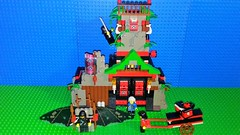 Ninja 6088 Robber's Retreat (Mana Montana) Tags: lego ninja samurai robber brigand castle 6088 robbersretreat fortress keep outpost katana siege cart flying