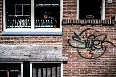 Coffee shop (tomabenz) Tags: sony a7rm2 urban color street photography europa streetview human geometry europe amsterdam framing humaningeometry sonya7rm2 streetphotography